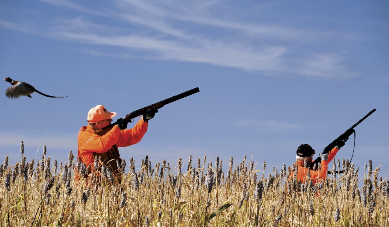 lovci u lovu na fazana